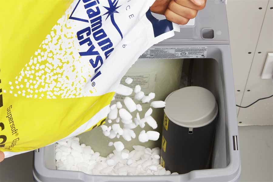 add salt to your softener
